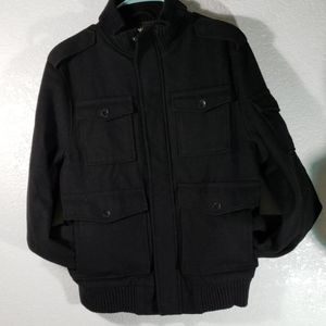 Medium wool blend black jacket